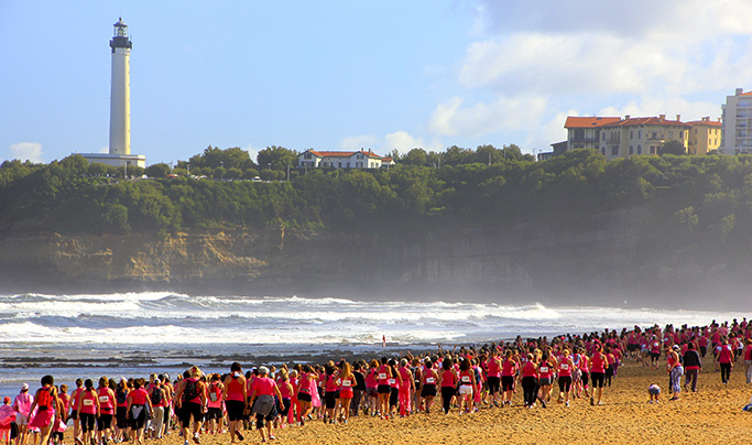 Biarritz Pays Basque La Biarrose une course100% féminine contre le cancer du sein course caritative Life is Rose et Keep A Breast