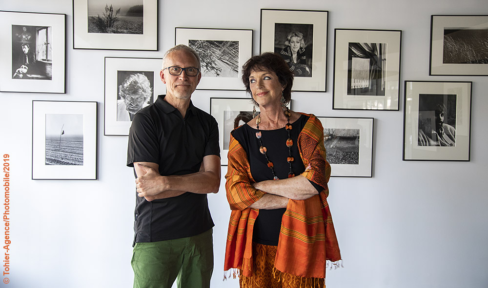 "Anny Duperey vernissage exposition ""les photos d'Anny"" Galerie photographie L'ANGLE Hendaye Pays Basque"