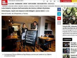 Sud Ouest.fr Gastronomie Luc Dolphin jeune talent