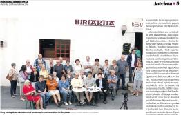 Journal BERRIA du 28 Juillet 2017 / Ipar Euskal Herriko Hitz