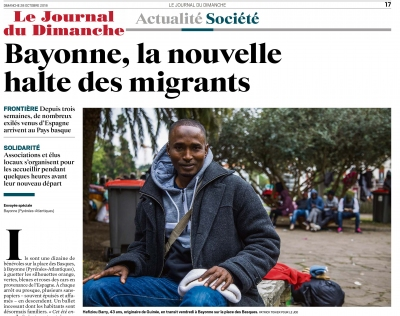 Le JDD Le Journal du Dimanche : Bayonne, la nouvelle halte des migrants