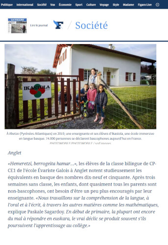 Au Pays basque, l'euskara progresse.