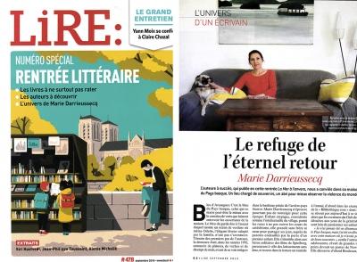 Magazine LIRE spécial rentrée littéraire