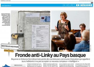 """Le Parisien-Aujourd'hui en France """"Fronde anti-Linky au Pays Basque"""""""