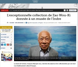 "Le Figaro.fr ""Collection de Zao Wou-Ki"""