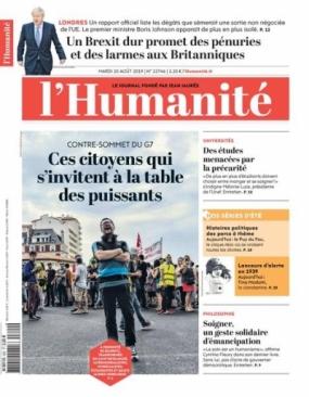 L'Humanité 20 aout 2019