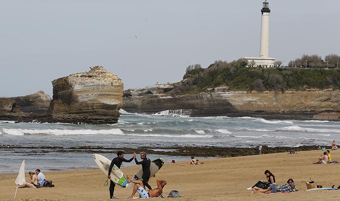 Meteo : Biarritz pays basque 27° grande plage