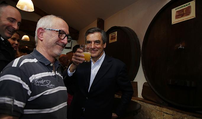 François Fillon au Pays Basque Txotx & Piment entre Cambo et Arbonne