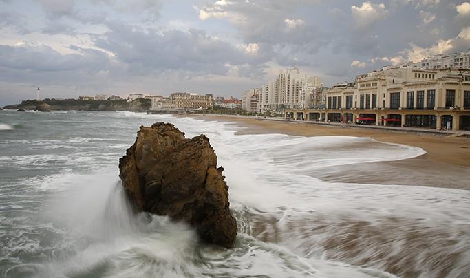 Sport: Biarritz la grande plage pour les Mondiaux de surf 2017