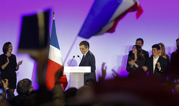 Politique : 24 mars 2017 François Fillon en meeting à Biarritz