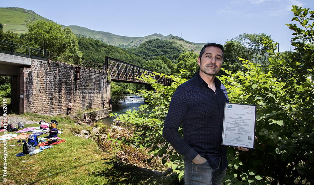 Économie et environnement : Uhina Rafting à Bidarray Pays Basque premier centre de loisirs en France certifié NF Environnement (site de visite).