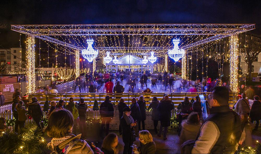 Evénement : Biarritz en Lumières joue les prolongations jusqu'au dimanche 14 janvier sur la patinoire de Noël.