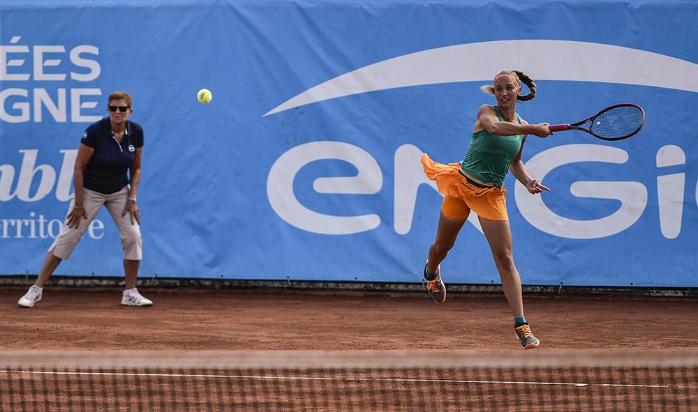 Nouvelles images /Argazki Berriak datu basean: Biarritz-Sport : ENGIE OPEN de Biarritz au Pays Basque, tournoi de tennis féminin du circuit professionnel ITF.
