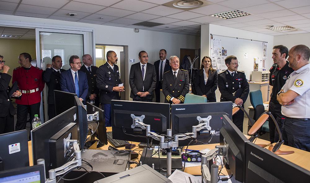 Nouvelles images sujet /Argazki Berriak datu basean Gaia : Politique Laurent Nunez le nouveau Secrétaire d'État auprès du ministre de l'Intérieur en visite au Pays basque à Hendaye.