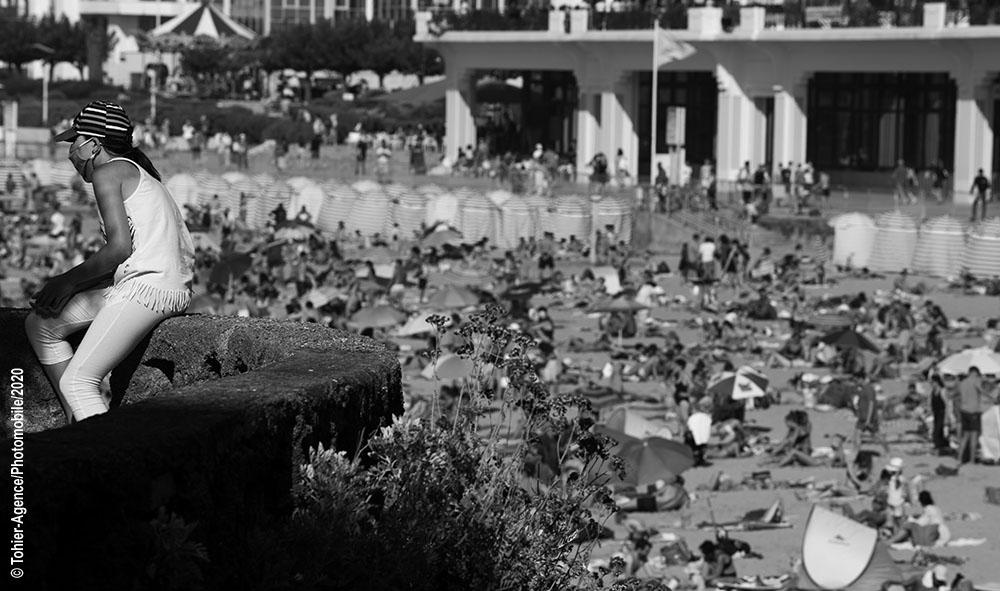 Pays basque : Covid-19 Biarritz le port du masque obligatoire a certains endroits de la station balnéaire.