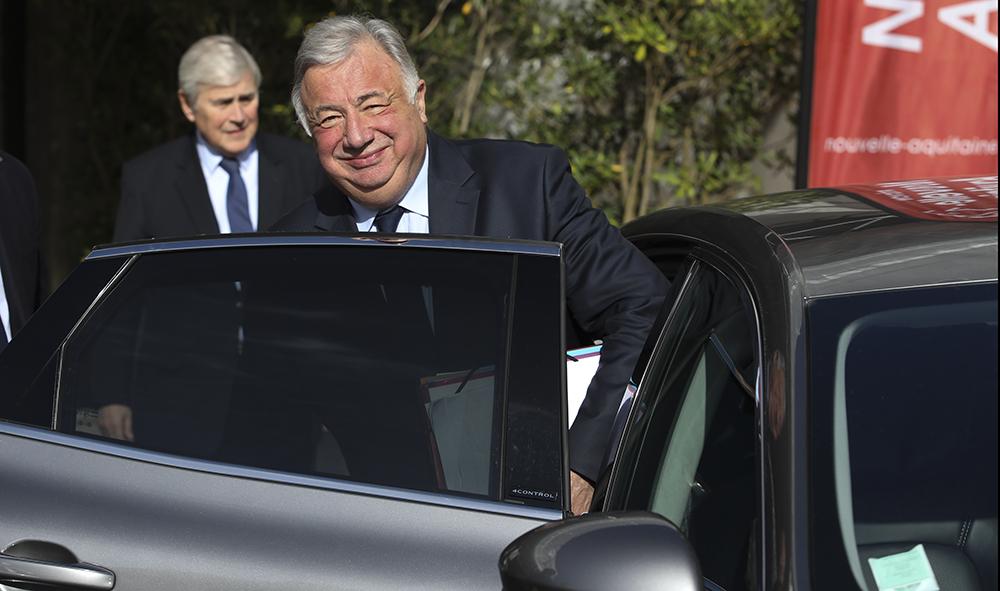 Politique : Biarritz, discours de clôture de M Gérard Larcher Président du Sénat dans le cadre de la 15ème UHFP le vendredi 2 février 2018