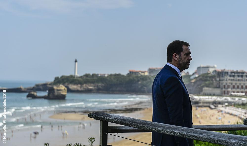 Politique : Biarritz et Hendaye, le Ministre de l'Intérieur Christophe Castaner prépare le prochain G7.