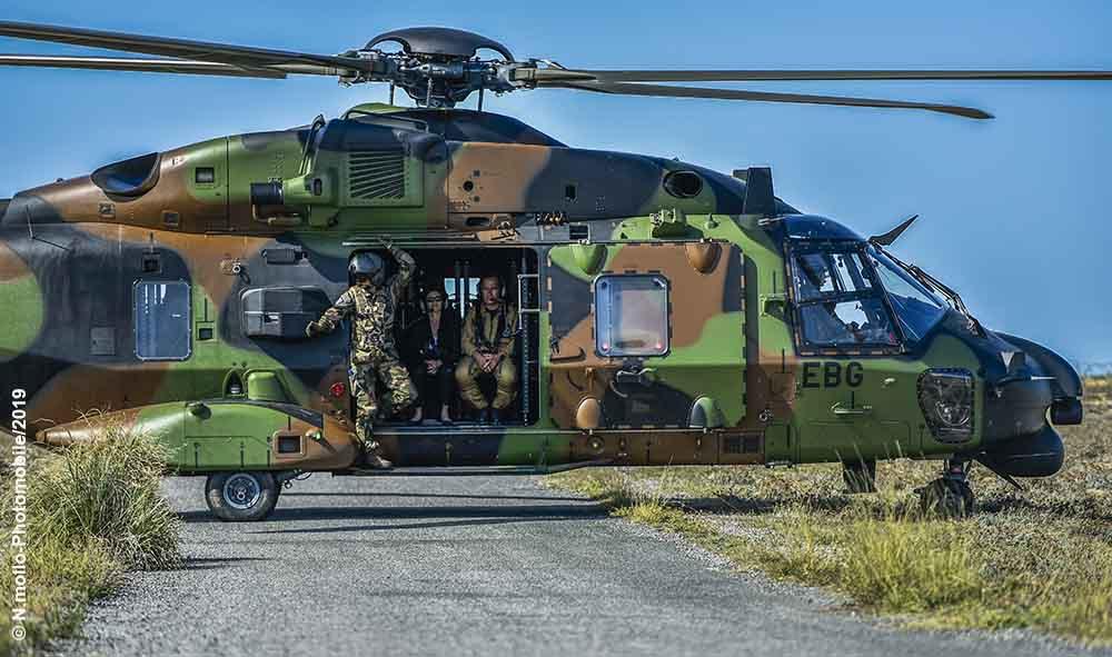Politique : G7 Pays basque J-2: Florence Parly, Ministre des Armées à Tarnos dans les Landes.