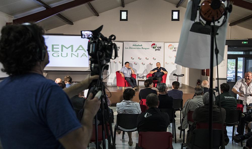 Politique EAJ PNB lance ses LEMA EGUNA depuis le village d'Irouleguy en Basse Navarre