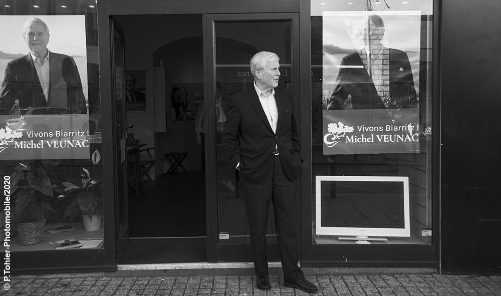 Série « Permanence » Michel Veunac Maire sortant de la ville de Biarritz, élections municipales et communautaires de Biarritz