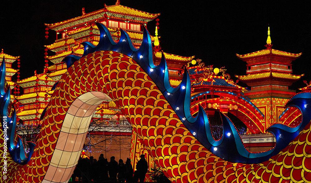"""Événement: A Gaillac dans le Tarn, aux côtés du plus ancien vignoble français, les lumières des « Fééries de Chine» coulent à flot, lors du plus important événement chinois de France""""."""