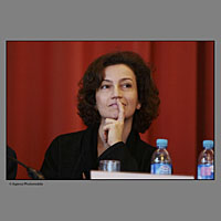 """Audrey Azoulay nommé Ministre de la culture et de la communication par François Hollande.Ici (photo) en janvier 2014 alors directrice générale déléguée du CNC elle étéit présente à Biarritz lors du FIPA """"Festival International de programmes  audiovisuels""""."""