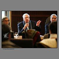 Didier Decoin le président du FIPA, lors de la conférence de presse de présentation de la 28e FIPA Festival International de Programmes Audiovisuels à Biarritz au Pays Basque.