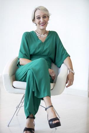 Sarah Hemar à Biarritz le 9 septembre 2018 elle est la nouvelle déléguée générale de TVFI, succèdant ainsi à Mathieu Béjot .  Biarritz, Pays Basque, Nouvelle Aquitaine, Pyrénées Atlantiques, Sud Ouest, France, Europe.