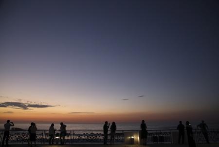 Tourisme d'affaires, sémininaire de travail et incentive au Pays basque, ici à Biarritz sur l'esplanade du casino municipal de la ville.  Biarritz, Pays Basque, Nouvelle Aquitaine, Pyrénées Atlantiques, Sud Ouest, France, Europe.
