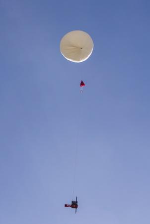Envoi d'un gateau basque dans l'espace le 24 octobre 2018 à destination de la stratosphère et envoyé du centre Commercial BAB 2 de la ville d'Anglet. Bruno Stora est le patissier qui a fabriqué le premier gâteau basque astronaute d'un diametre de 10 cm. Une  prouesse technologique sous l'égide d'étudiants et de chercheurs de l' ESTIA de Bidart, une école d'ingénieurs de référence sur le territoire du Pays basque francais.2h00 de monté jusqu'à une altitude d'environ 35 kms, le ballon d'helium explosera et la gâteau basque commencera sa  redescente.  Anglet, Pays Basque, Region Nouvelle-Aquitaine, Pyrenees-Atlantiques France, Europe.