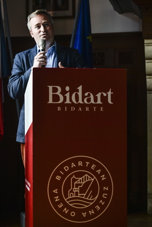 "Jean-Baptiste Lemoyne Secrétaire d'état auprès du Ministre de l'Europe et des Affaires Étrangères lors de l'inauguration de la classification ""station tourisme"" ( Office de tourisme classé pour une validité de 5 ans ) de la ville de Bidart au Pays Basque.