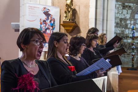 Le Coeur ASCESE de la ville d'Anglet en concert à l'église de TOSSE (40) le 17 mars 2019.  Tosse, Landes, Region Nouvelle-Aquitaine, Pyrenees-Atlantiques France, Europe.