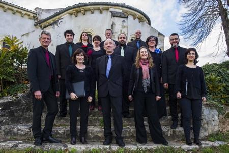 Le Coeur ASCESE de la ville d'Anglet devant l'église de TOSSE (40) le 17 mars 2019.  Tosse, Landes, Region Nouvelle-Aquitaine, Pyrenees-Atlantiques France, Europe.