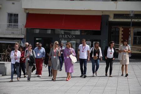Le RDV TV France International le RDV 2019 à Biarritz au Pays Basque. Le RDV TV France International est un marche unique reserve aux adherents de TV France, dedie au visionnage et a la vente de 1 100+ programmes français recents, a la rencontre et au networking accueillant 260 acheteurs et décideurs internationaux étrangers.  The RDV TV France International the RDV 2019 in Biarritz in the Basque Country. The RDV TV France International is a unique market reserved for TV France members, dedicated to the viewing and sale of 1,100+ recent French programs, the meeting and networking hosting 260 international buyers and foreign decision-makers.  Biarritz, Miarritze, Pays Basque, Euskal Herri, Basque Country, Nouvelle Aquitaine, New Aquitaine, Pyrénées Atlantiques, Sud Ouest, France, Europe.