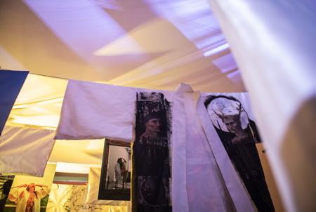 Maison et Studio Couture ANELORE & LE REVE à Biarritz au Pays basque, exposition et découverte des nouvelles création de Anelore Prats lors d'une exposition commune avec les artistes suivant, Laure Helene Vaudier ( actuelle assistante d'Agnes B), Marine Calri Tatoueuse, Julien Felix photographe, Nicole Martin Peintre, Maïder Brouk Photographe, Nicolas Ouchenir Calligraphe, Pablo Elizaga, Simon Margat Plumassier, Victoria Brun jeune artiste de 18 ans, toutes et tous ont fourni leur travail respectif destiné a des kimonos conceptualisés par l'artiste Anelore Prats.  Couture House and Studio ANELORE & LE REVE in Biarritz in the Basque Country, exhibition and discovery of new creations by Anelore Prats during a joint exhibition with the following artists, Laure Helene Vaudier (current assistant to Agnes B), Marine Calri Tatoueuse, Julien Felix photographer, Nicole Martin Painter, Maïder Brouk Photographer, Nicolas Ouchenir Calligraphe, Pablo Elizaga, Simon Margat Plumassier, Victoria Brun young artist of 18, all of them provided their respective work for kimonos conceptualized by the artist Anelore Prats .  Biarritz, Pays basque, 64 , Nouvelle Aquitaine, Pyrénées Atlantiques, Sud Ouest, France, Europe. New Aquitaine, Basque Country.