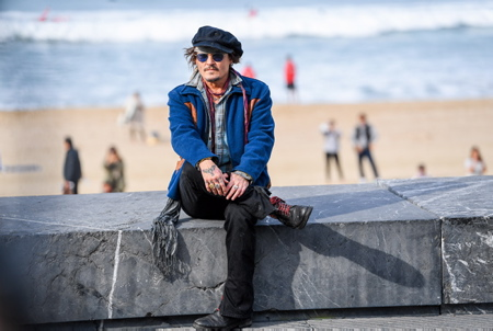 Johnny Depp au Festival de Cinéma de San Sébastien le 22 septembre 2021.  Johnny Depp at the San Sebastian Film Festival on September 22, 2021.  San Sébastien, San Sébastian, Donostia, Pays basque, Europe, Espagne, Gipuzkoa, Pays basque Espagnol, Basque Country.